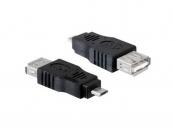 Female USB A 2.0 naar Male Micro USB B 5 pins Adapter