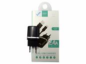 Micro USB snellader van 2400mA Zwart / Fast Charger