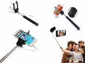 Selfie Stick bekabeld met ontspanknop in handvat