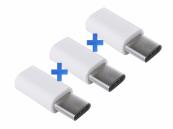 3st. USB Verloopstekker van female micro USB naar male USB-C