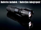 Militaire LED Zaklamp 3800 Lumen Zoomfunctie, met batterijen