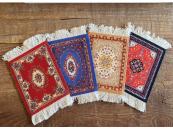 Perzisch tapijt stoffen onderzetters - set van 4 viltjes