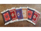 Perzisch tapijt onderzetters - set van 6 viltjes