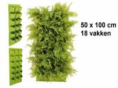 Verticale Tuin met 18 Vakken, 100 x 50 (cm), Groen