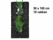 Verticale Tuin met 18 Vakken, 100 x 50 (cm), Zwart