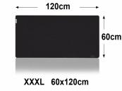 XXL/XXXL Muismat  | zwart  | Antislip muismat | 120x60