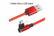 Male USB A 2.0 naar Male Micro-USB Oplaadkabel extra sterk