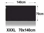 XXL/XXXL Muismat    zwart    Antislip muismat   140x70