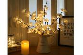 Kunstbloemen, LED Decoratie, Kunst orchideeën (Wit)