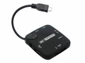 7 in 1 OTG USB Hub en Card Reader, micro USB